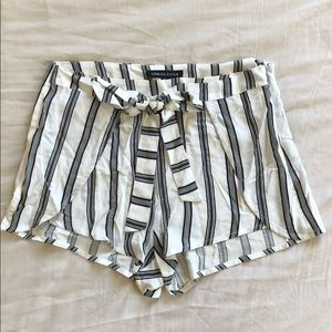 Kendall & Kylie Striped Rayon Shorts